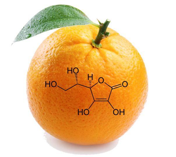 La formula dell'acido ascorbico o vitamina C
