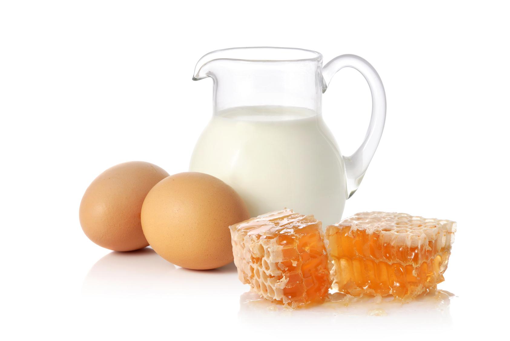Uova, latte e miele