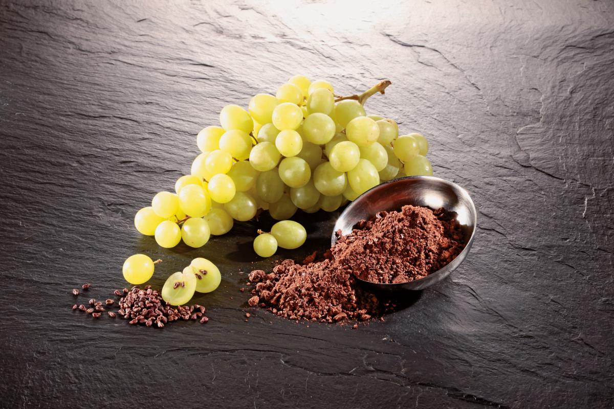 I vinaccioli degli acini d'uva